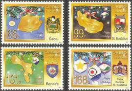 Caribisch Nederland  35/38 Decemberzegels 2012 Postfris