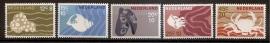 Nvph  877/881 Zomerzegels 1967 Postfris