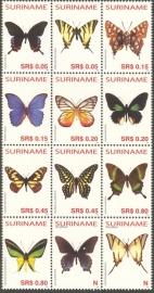 Suriname Republiek 1296/1307 Vlinders 2005 Postfris