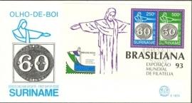 Suriname Republiek  779 Blok Int. Postzegeltent. Brasiliana 1993 Postfris