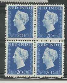 Nederlands Indië 338 PM1 in blok Postfris