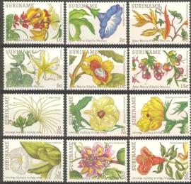 Suriname Republiek 321/332 Bloemen 1983 Postfris