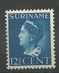 Suriname 244 12½ ct Koningin Wilhelmina Postfris