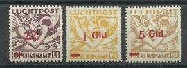 Suriname LP24/26 Luchtpost Uitgifte 1941 Postfris
