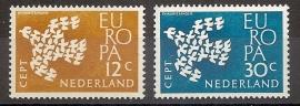 Nvph  757/758 Europa 1961 Postfris