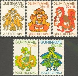 Suriname Republiek 224/228 Kinderzegels 1980 Postfris