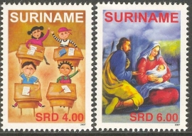Suriname Republiek 1490/1491 Kind en Kerst Zegel 2007 Postfris