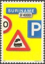 Suriname Republiek 1172 Verkeersbord 12e Uitgifte 2002 Postfris