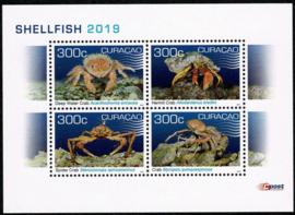 Curaçao Status Aparte 417 Blok Schelpdieren 2019 Postfris