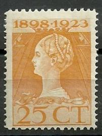 Nvph 126H (11½×12½) 25 ct Jubileum 1923 Postfris (6)