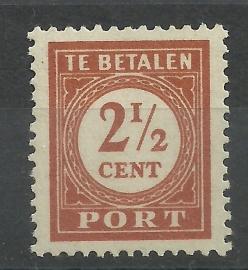 Nederlands Indië Port 66a (12½×12½) Postfris