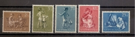 Nvph 649/653 Kinderzegels 1954 Postfris