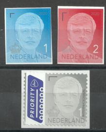 Nvph 39../39.. Koning Willem Alexander Postfris (Kroon 2020, Ongetand uit vel)
