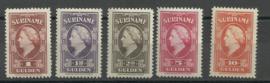 Suriname 239/243 Koningin Wilhelmina American Banknote Postfris (3)