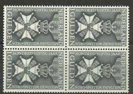 Nvph 839 150 jaar mil. Willemsorde in blok Postfris