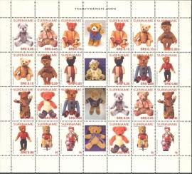 Suriname Republiek 1308/1319 Teddyberen 2005 Postfris (Compleet Vel)