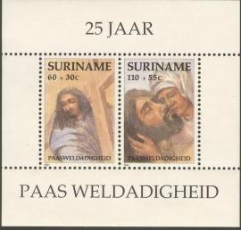 Suriname Republiek  690 Blok Paasweldadigheid 1991 Postfris