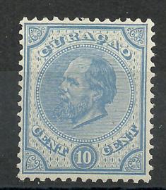 Curacao   4C (13½ × 13¾)  10 ct Willem III Ongebruikt (1)
