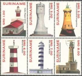 Suriname Republiek  1927/1932 Vuurtorens 2012 Postfris