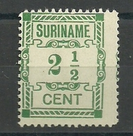 Suriname  66P Hulpuitgifte 1912 Ongebruikt