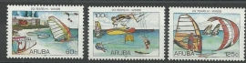 Aruba 363/365 Zeilevenement Hi-Winds Postfris