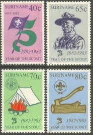 Suriname Republiek 333/336 75 Jaar Scouting 1983 Postfris