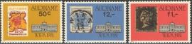 Suriname Republiek 255/257 Int. Postzegeltent. WIPA 1981 Postfris