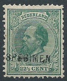 Nvph  25H 22½ ct (12½×12) Koning Willem III 1875-1884 Specimen Ongebruikt (1)