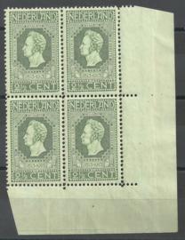 Nvph  90A 2½ ct Jubileum 1913 in hoekblok  r.o. Postfris