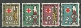 Nieuw Guinea 49/52 Rode Kruiszegels Postfris