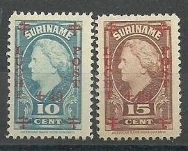 Suriname LP27/28 Rode Kruiszegels Postfris