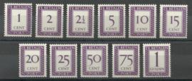 Suriname P 36/46 Cijfer en Waarde in rechthoek Postfris (1)