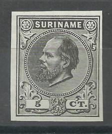 Suriname   3a  zwart 5ct Berlijnse Kleurproef Ongebruikt (1)