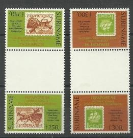 Suriname Republiek  820/821 TBBP Int. Postzegeltent. Fepapost 1994 Postfris