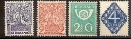 Nvph 110/113 Diverse Voorstellingen Postfris