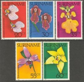 Suriname Republiek  49/53 Orchideeën 1977 Postfris
