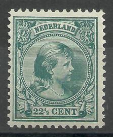 Nvph  41d 22½ ct Prinses Wilhelmina (Hangend Haar) Postfris (1) + Attest