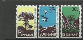 Suriname 592/594 Postfris