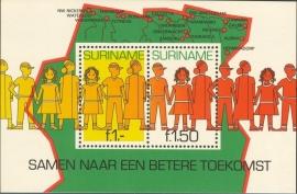 Suriname Republiek 254 Blok Surinaamse Jeugd 1981 Postfris