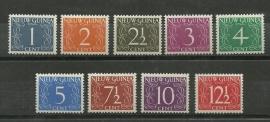 Nieuw Guinea 1/9 Cijferzegels Ongebruikt