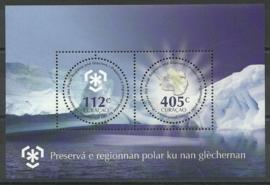 Curaçao Status Aparte  43 Blok Bescherming Polen en Gletsjers Postfris