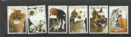 Nederlandse Antillen 1341/1346 Katten en Honden Postfris