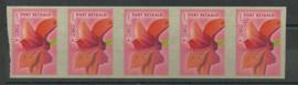 Port Betaald  25a 5 Strip Postfris