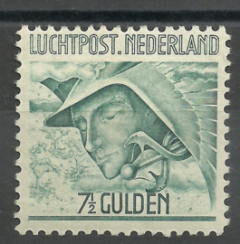 Luchtpost  8  7½ Gld Mercurius Postfris (1)