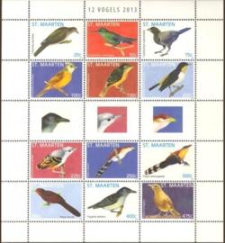 Sint Maarten 128/139 Vogels 2013 Postfris
