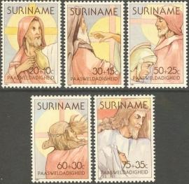 Suriname Republiek 247/251 Paasweldadigheid 1981 Postfris