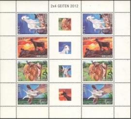 Aruba V594/597 Geiten 2012 Postfris (Compleet Vel)