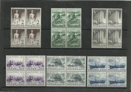 Nvph 550/555 Zomer 1950 in Blokken Postfris