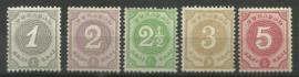 Curacao  13/17 Cijfer 1889/1891 Postfris (1)