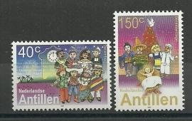 Nederlandse Antillen 1374/1375 Kerst 2001 Postfris